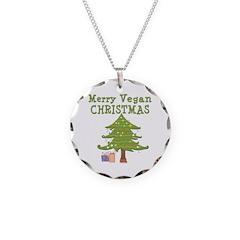 Merry Vegan Christmas Necklace