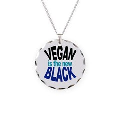 Vegan is the New Black Necklace