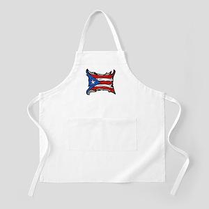 Puerto Rico Heat Flag BBQ Apron
