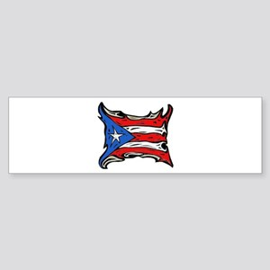 Puerto Rico Heat Flag Bumper Sticker