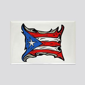 Puerto Rico Heat Flag Rectangle Magnet