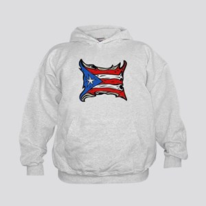 Puerto Rico Heat Flag Kids Hoodie