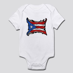Puerto Rico Heat Flag Infant Bodysuit