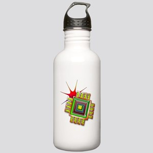 Fancy Computer Chip Stainless Water Bottle 1.0L