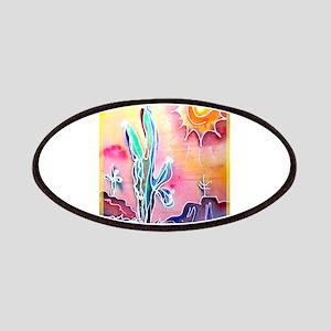 Saguaro Cactus, bright, art Patches