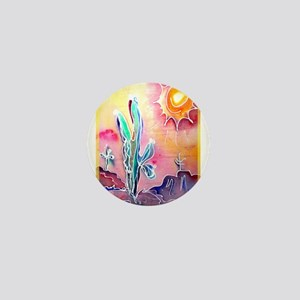 Saguaro Cactus, bright, art Mini Button