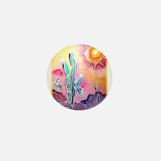 Saguaro Cactus, bright, art Mini Button