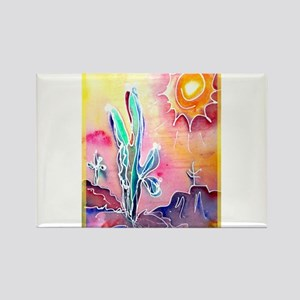 Saguaro Cactus, bright, art Rectangle Magnet