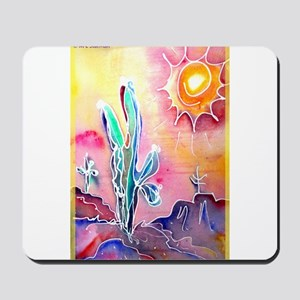 Saguaro Cactus, bright, art Mousepad