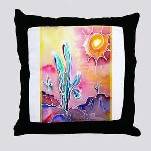Saguaro Cactus, bright, art Throw Pillow