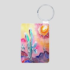 Saguaro Cactus, bright, art Aluminum Photo Keychai