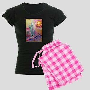 Saguaro Cactus, bright, art Women's Dark Pajamas