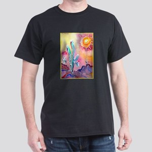 Saguaro Cactus, bright, art Dark T-Shirt
