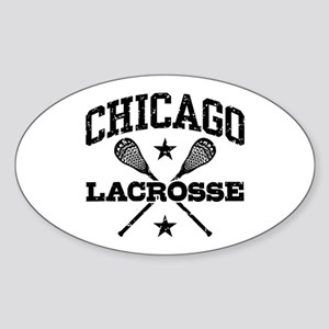Chicago Lacrosse Sticker (Oval)