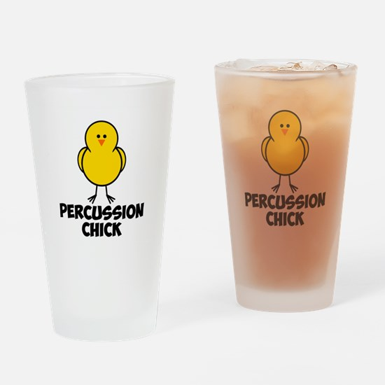 Percussion Chick Drinking Glass