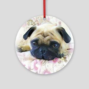 Pug Dog Ornament (Round)