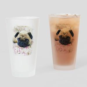 Pug Dog Drinking Glass