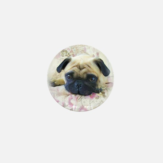Pug Dog Mini Button