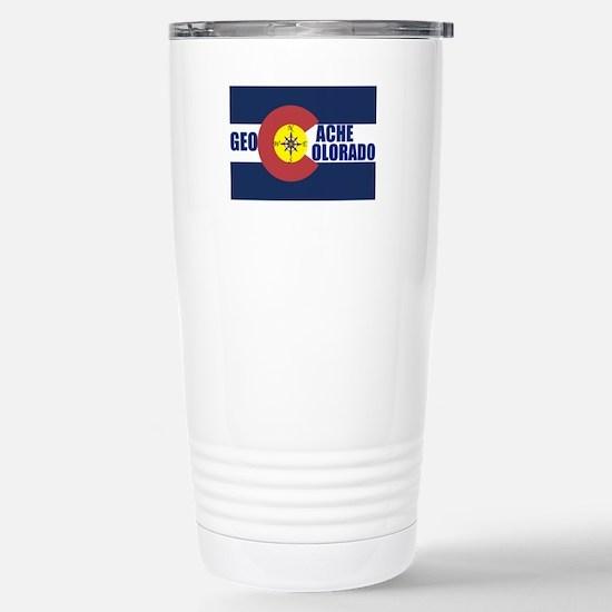 Geocache Colorado Stainless Steel Travel Mug