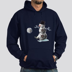 Soccer Ball Snowman Hoodie (dark)