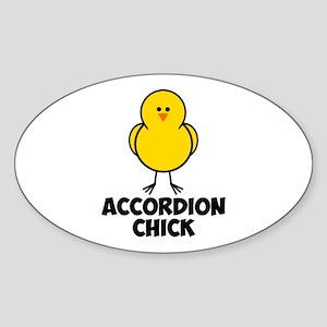 Accordion Chick Sticker (Oval)