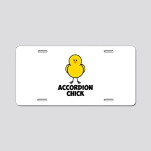 Accordion Chick Aluminum License Plate