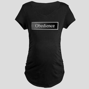 Obedience Maternity Dark T-Shirt