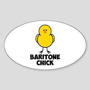 Baritone Chick Sticker (Oval)