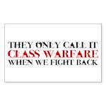 Class Warfare Sticker (Rectangle)