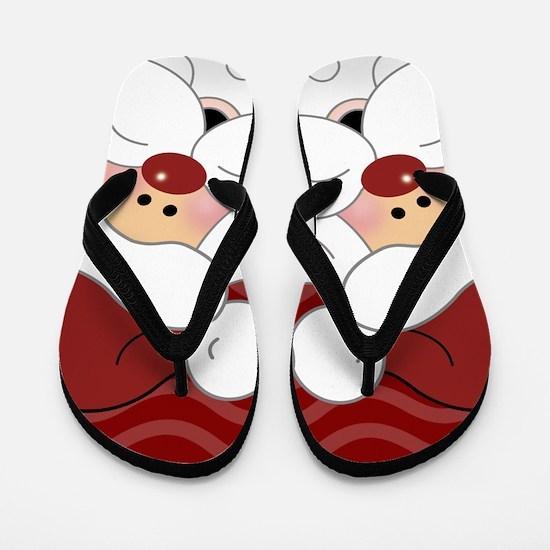 Adorable Santa Claus Christmas Flip Flops