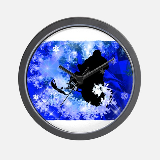 Cute Snowmobile Wall Clock