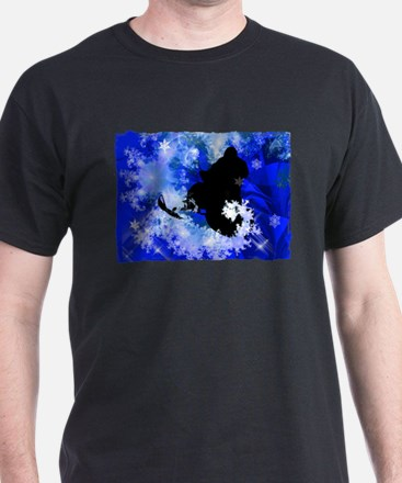 Funny Snow mobiling T-Shirt