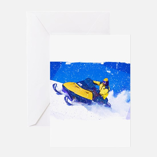 Funny Snowmobile Greeting Card