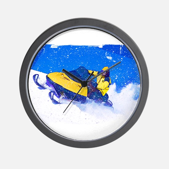 Funny Snowmobile Wall Clock