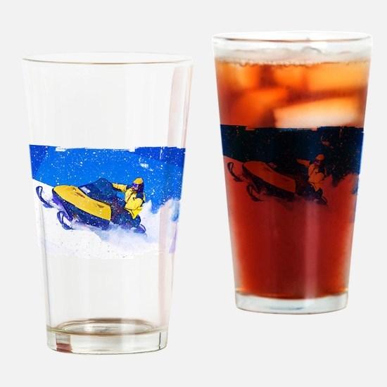 Unique Snowmobile Drinking Glass