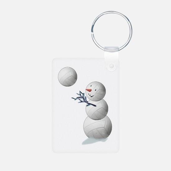 Volleyball Snowman Keychains