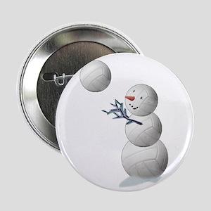 "Volleyball Snowman 2.25"" Button (10 pack)"