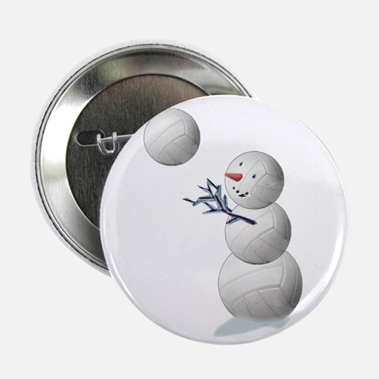 "Volleyball Snowman 2.25"" Button (10 pack)"