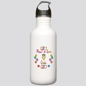 Peace Love Owls Stainless Water Bottle 1.0L