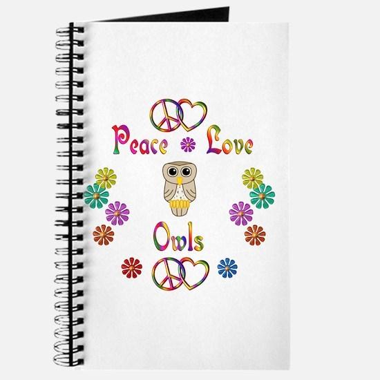 Peace Love Owls Journal