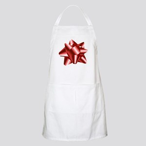 Christmas Red Bow Apron