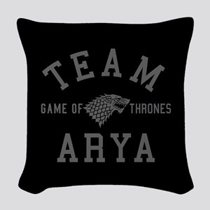 GOT Team Arya Woven Throw Pillow