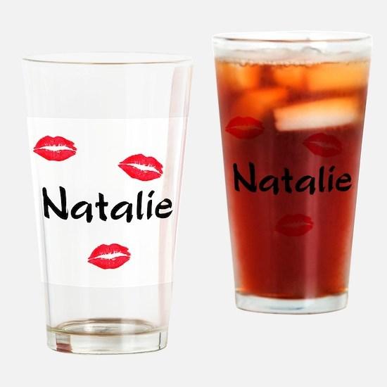 kiss natalie Drinking Glass