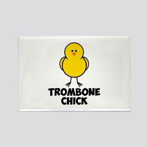 Trombone Chick Rectangle Magnet