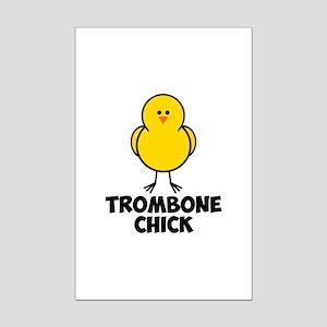 Trombone Chick Mini Poster Print