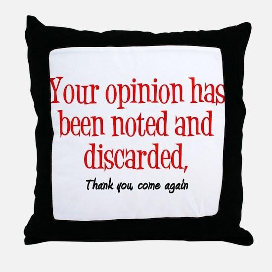 Opinion Throw Pillow