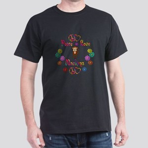 Peace Love Monkeys Dark T-Shirt