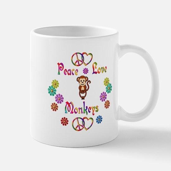 Peace Love Monkeys Mug