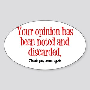 Opinion Sticker (Oval)
