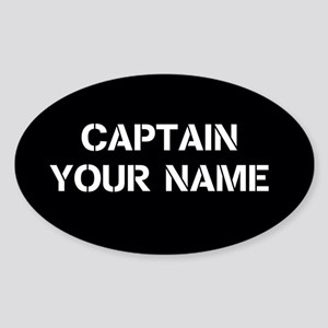 CUSTOMIZABLE CAPTAIN Sticker (Oval)